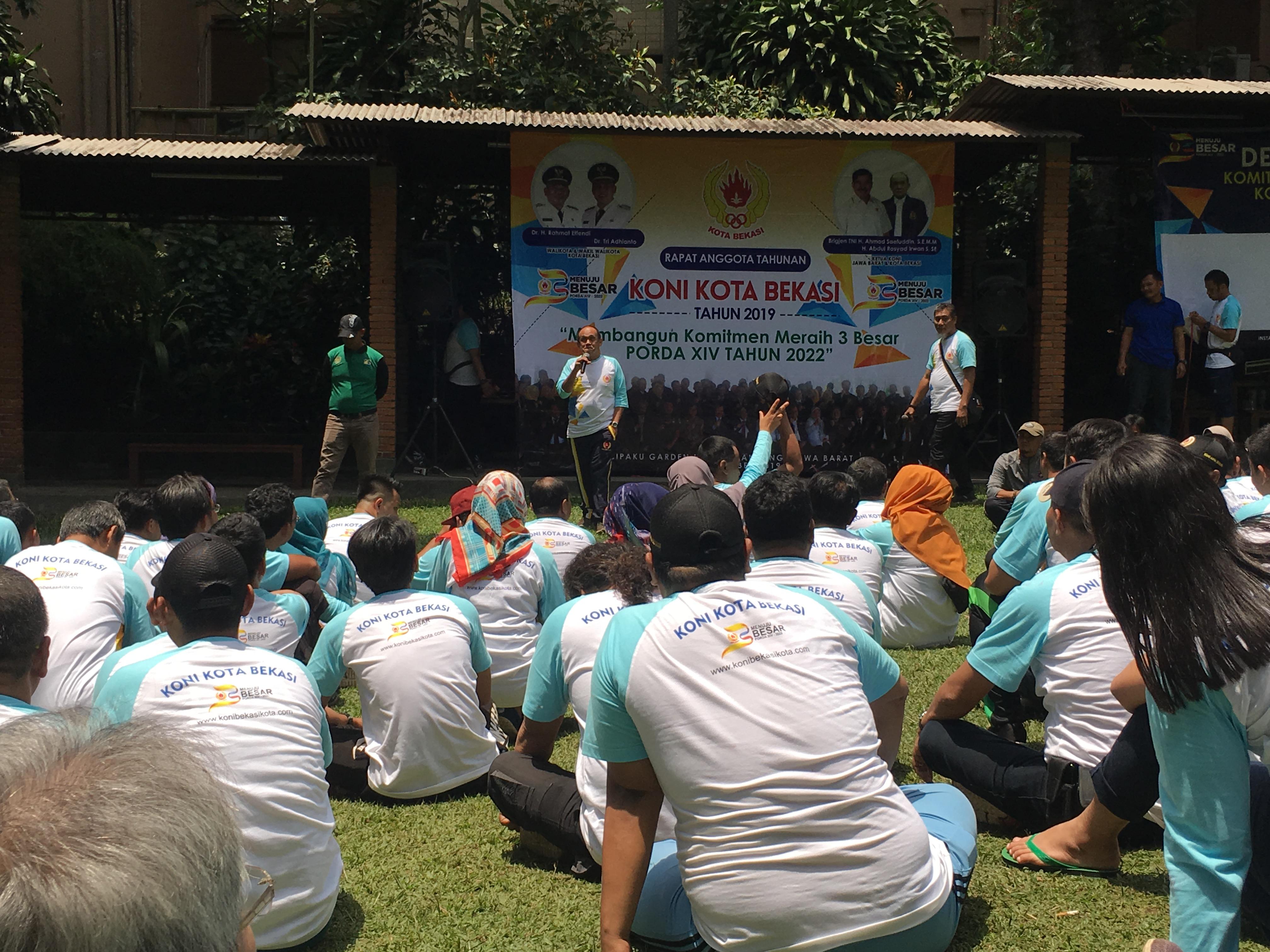 RAT KONI Kota Bekasi 2019 Ditutup dengan Outbound dan Deklarasi