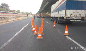Hati-hati, Ada Pemeliharaan Jalan 3 Hari di Tol Japek KM 25+120 Sampai 25+270