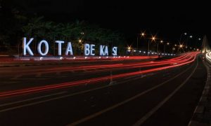 Ilustrasi Kota Bekasi malam hari