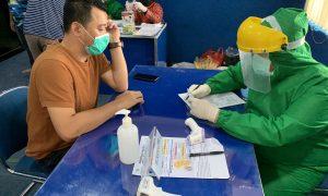 Ketua Umum KONI Kabupaten Bekasi Reza Lutfi jalani Rapid Test