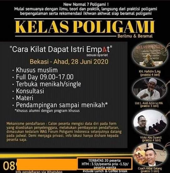 Viral, Ada Poster Pendaftaran Kelas Poligami di Bekasi