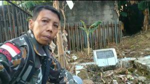 Tangkapan layar unggahan video intagram @benyrusmawan di makam Mayor M.Hasibuan